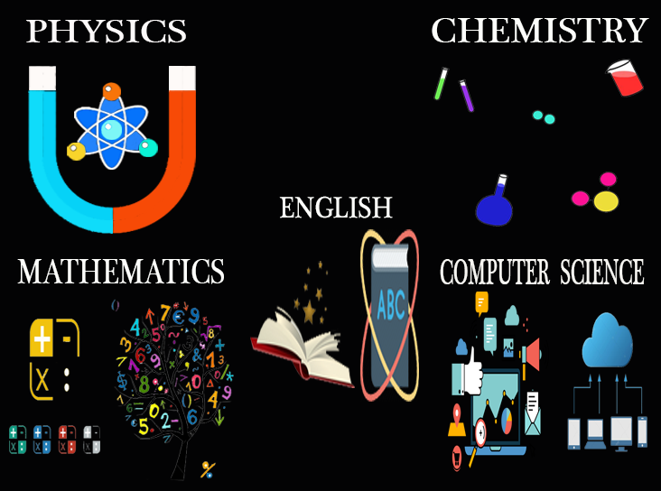 1st year PUC Physics, Chemistry, Math, Computer Science and English